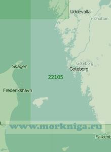 22105 Северная часть пролива Каттегат (Масштаб 1:200 000)