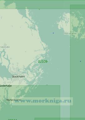 22109 От острова Гресё до Стокгольма с Аландскими островами (Масштаб 1:200 000)