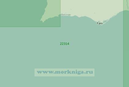 22314 От мыса Сан-Висенти до устья реки Гвадиана (Масштаб 1:200 000)