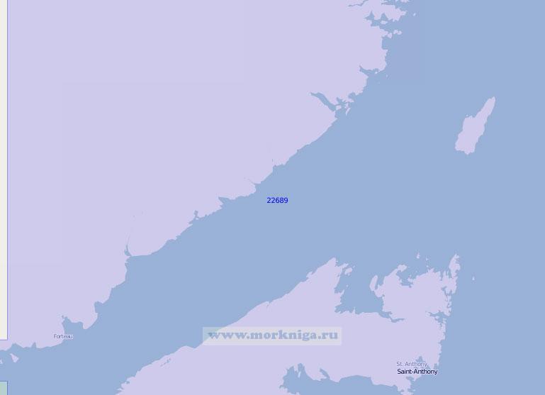 22689 Пролив Белл-Айл (Масштаб 1:150 000)