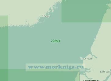 22693 Восточная часть залива Святого Лаврентия (Масштаб 1:300 000)