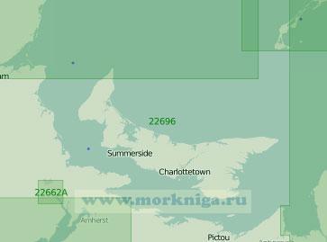 22696 Залив Святого Лаврентия. Остров Принца Эдуарда и пролив Нортамберленд (Масштаб 1: 300 000)