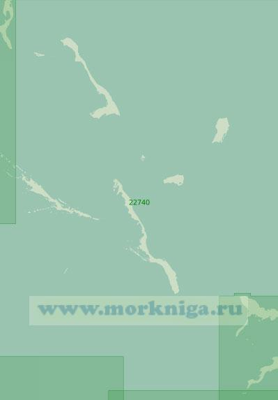 22740 Подходы к заливу Эксума (Масштаб 1:200 000)
