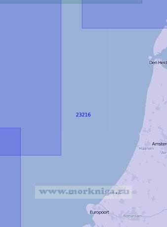 23216 От маяка Кейкдёйн до порта Хук-ван-Холланд (Масштаб 1:150 000)