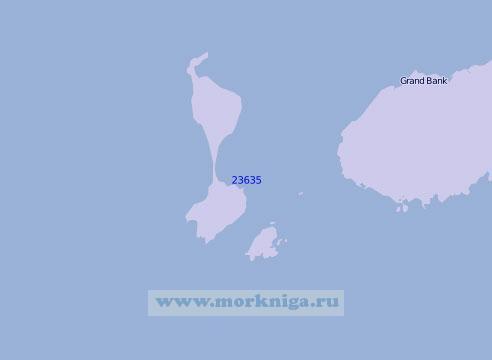 23635 Острова Микелон и Сен-Пьер (Масштаб 1:100 000)