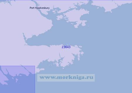 23643 От острова Сент-Эспри до бухты Кантри-Харбор (Масштаб 1:100 000)