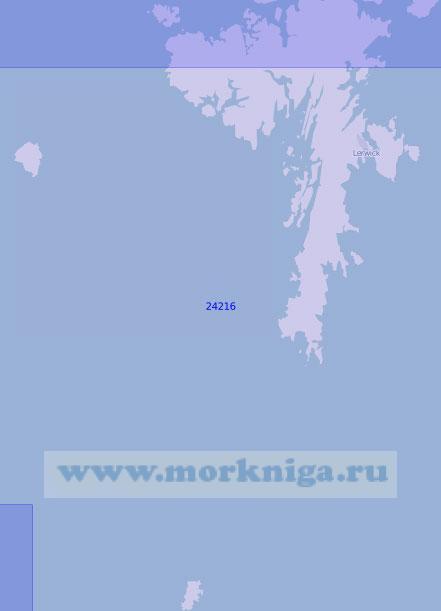 24216 Южная часть Шетландских островов (Масштаб 1:100 000)