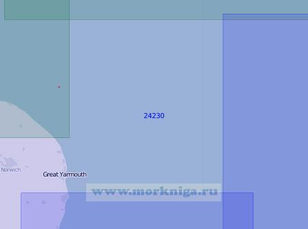 24230 От маяка Кромер до маяка Саутуолд (Масштаб 1:150 000)