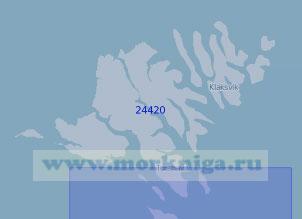 24420 Северная часть Фарерских островов (Масштаб 1:100 000)