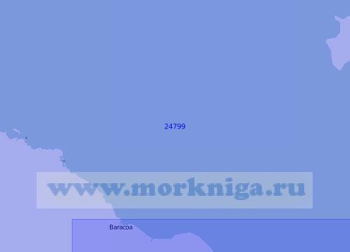24799 От бухты Кайо-Моа до мыса Майей (Масштаб 1:150 000)