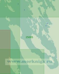 25005 От пролива Бьёркёзунд до острова Высоцкий с бухтой Ключевская (Масштаб 1:25 000)