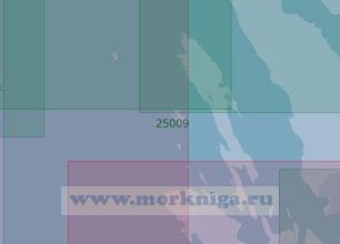 25009 Северная часть пролива Бьеркёзунд с подходами к островам Западный Берёзовый и Северный Берёзовый (Масштаб 1:25 000)