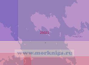25021 Северная часть пролива Муху-Вяйн (Вяйна-Мери) с островом Вормси (Масштаб 1:50 000)
