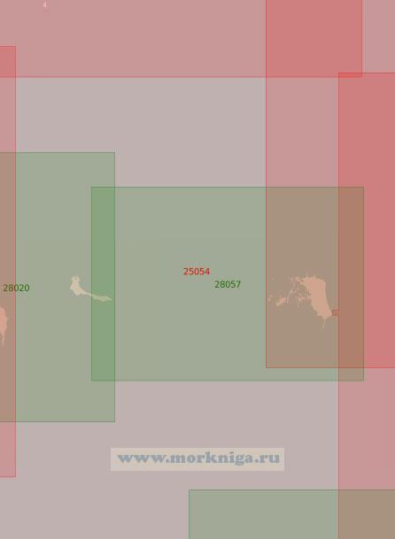 25054 От острова Сескар до острова Мощный (Масштаб 1:50 000)