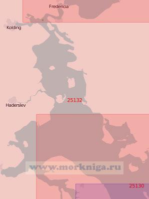 25132 От острова Эрё до порта Фредерисия (Масштаб 1:75 000)