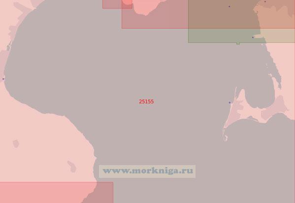 25155 От мыса Стевнс-Клинт до острова Амагер (Масштаб 1:50 000)