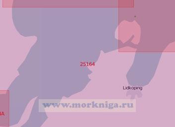 25164 Озеро Венерн. Подходы к портам Венерсборг и Лидчёпинг (Масштаб 1: 60 000)