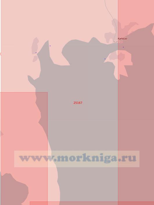 25167 Озеро Венерн. От порта Карлстад до бухты Гаперхультсхамн (Масштаб 1: 60 000)