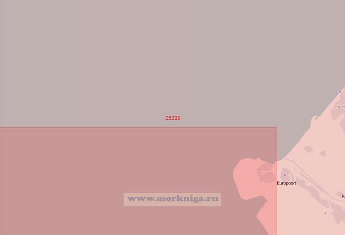 25229 Подходы к портам Европорт и Хук-ван-Холланд (Масштаб 1:50 000)