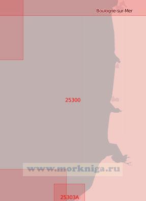 25300 От порта Булонь до бухты Соммы (Масштаб 1:75 000)