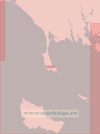 25325 От полуострова Гавр до залива Морбиан с островом Бель-Иль (Масштаб 1:50 000)