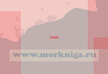 25400 От мыса Данджнесс до мыса Бичи-Хед (Масштаб 1:75 000)