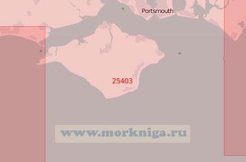 25403 Подходы к портам Портсмут и Саутгемптон (Масштаб 1:75 000)