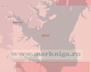 25737 Подходы к порту Балтимор (Масштаб 1:50 000)