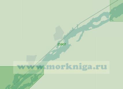 25907 От селения Уоддингтон до острова Галоп (Масштаб 1:25 000)