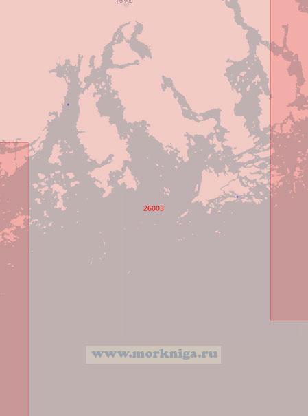 26003 Подходы к порту Порвоо (Борго) (Масштаб 1:50 000)