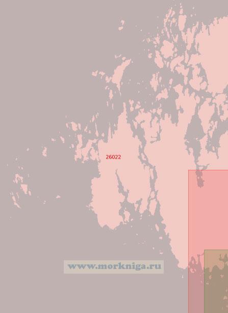 26022 От острова Сёдра-Сельшер до острова Меллангадден (Масштаб 1:50 000)