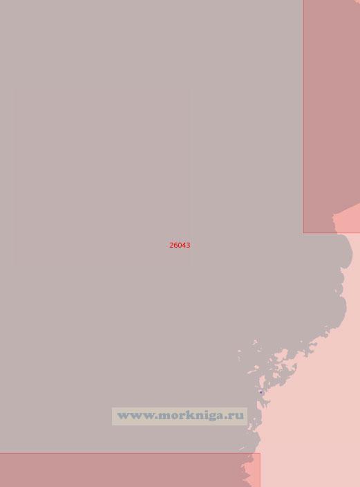 26043 Подходы к порту Раахе (Брахестад) (Масштаб 1:50 000)