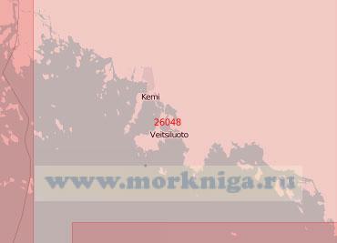 26048 Подходы к портам Торнио (Торнео) и Кеми (Масштаб 1:50 000)