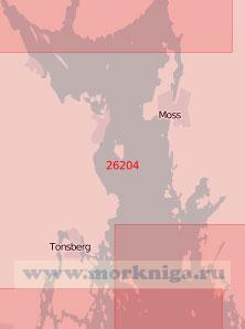 26204 Южная часть залива Осло-фьорд (Масштаб 1:50 000)