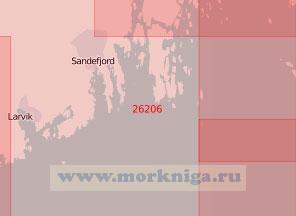 26206 Подходы к портам Ларвик и Саннефьорд (Масштаб 1:50 000)