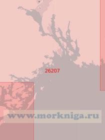 26207 От порта Крагерё до островов Твистейн с подходом к порту Шиен (Масштаб 1:50 000)