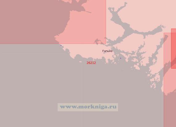 26212 От мыса Линнеснес до острова Хидра (Масштаб 1:50 000)