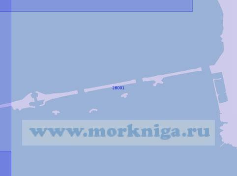 28001 Восточный участок северной трассы защитных сооружений (Масштаб 1:10 000)