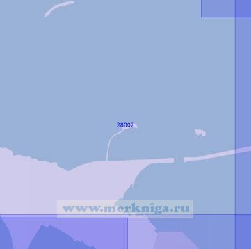 28002 Западный участок северной трассы защитных сооружений (Масштаб 1:10 000)