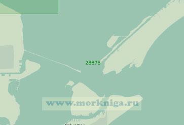 28878 Порт Галвестон с подходами (Масштаб 1:25 000)