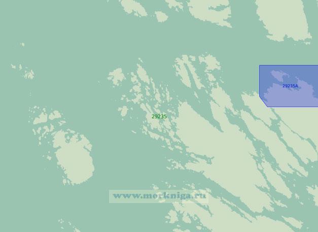 29235 От острова Федье до порта Монгстад (Масштаб 1:25 000)