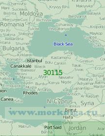 30115 Карта Черного моря и восточной части Средиземного моря (Масштаб 1:2 000 000)