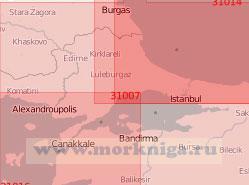 31007 Мраморное море с проливами Босфор и Дарданеллы (Масштаб 1:500 000)