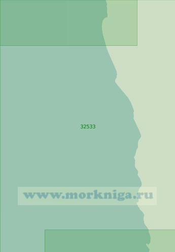 32533 От бухты Консепшен до мыса Нолл (Масштаб 1:200 000)