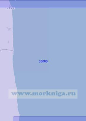 33000 От города Ленкорань до мыса Лисар (Масштаб 1:100 000)