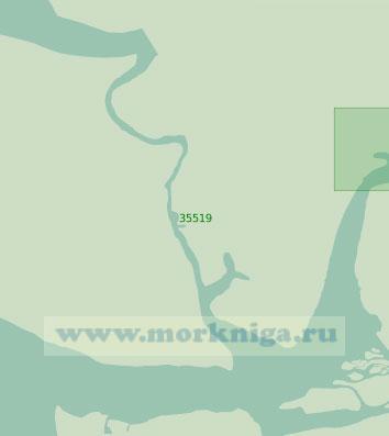 35519 Река Варри и протока Чаноми. От порта Форкадос до порта Варри (Масштаб 1: 40 000)