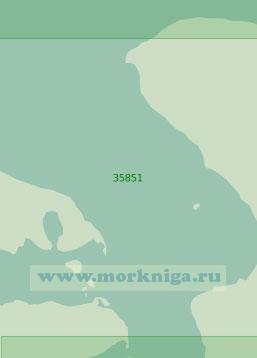 35851 Лагуна Патус. От города Сан - Жозе - ду - Норти до канала Барра (Масштаб 1: 25 000)