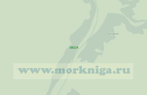 38024 Порт Астрахань. От остановочного пункта Стрелецкое до поселка Ильинка (Масштаб 1:25 000)