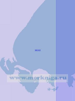 38102 Бухта Жебриянская (Масштаб 1:12 500)