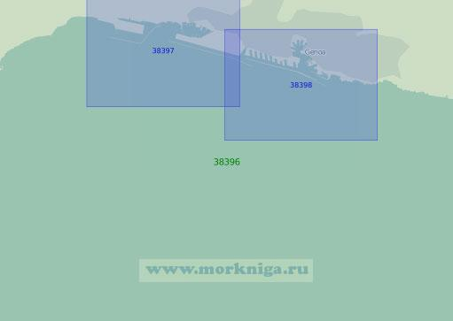 38396 Подходы к порту Генуя (Масштаб 1:25 000)